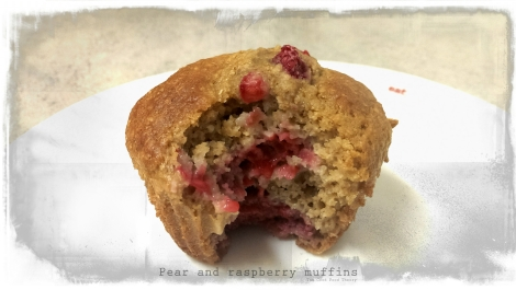 Pear and raspberry muffins1_wtr