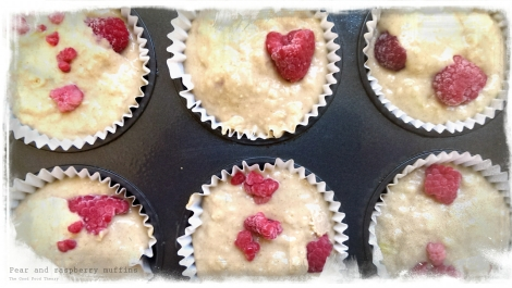 Pear and raspberry muffins2_wtr