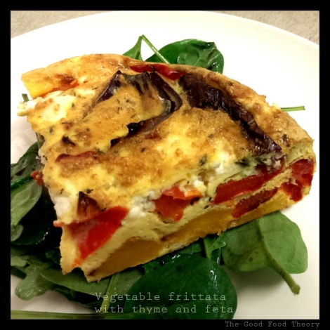 Vegetable frittata with thyme and feta_wtr