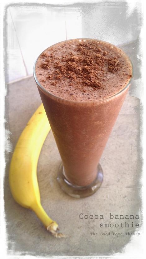 Cocoa banana smoothie_wtr