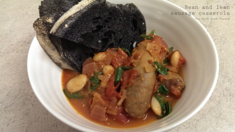 Bean and lean sausage casserole