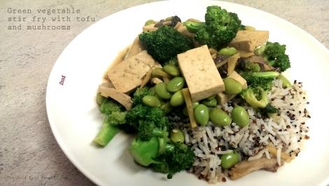 Green vegetable stir fry_wtr