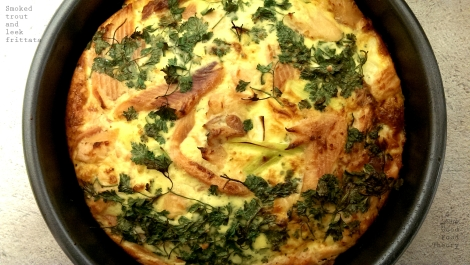 smoked trout and leek frittata_wtr
